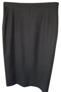 Escada Skirt Charcoal Gray
