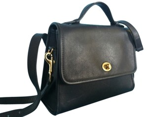 Coach Made In The Us Leather Detachable Long Strap Brass Fittings E80-9870 Rare Cross Body Bag