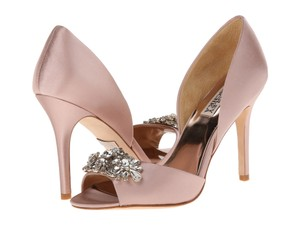Badgley Mischka Blush Satin Giana Formal Size US 8.5 Regular (M, B)
