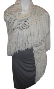 Other hand crochet fringed shawl