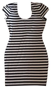Charlotte Russe short dress Black/white Bodycon Short Tight Sexy on Tradesy