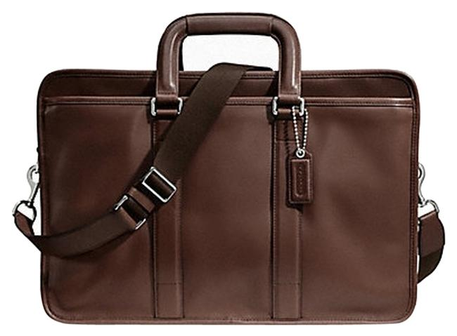 Item - Lexington F70662 Brown Embassy Briefcase Business Silver/Mahogany Leather Messenger Bag