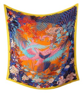 Hermès **consignor return** Flamingo Party Shawl