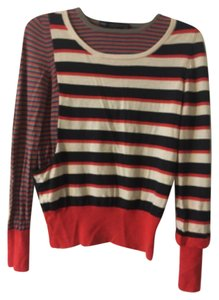 Marc by Marc Jacobs Multi Color Color-blocking Wool Sweater