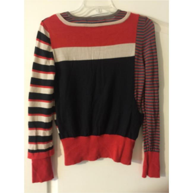 Marc by Marc Jacobs Multi Color Color-blocking Wool Sweater Image 2