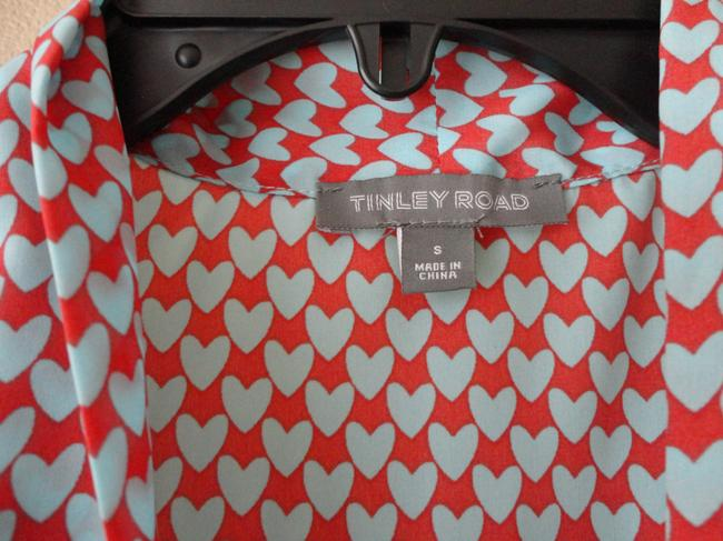 Tinley Road Tie Hearts Top Multi