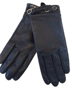 Michael Kors Michael Kors black leather gloves