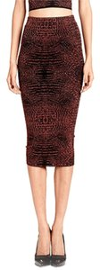 Torn by Ronny Kobo Jacquard Lurex Print Skirt