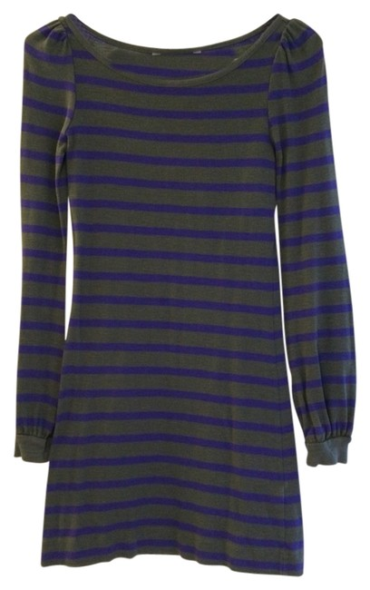 French Connection short dress Grey Purple on Tradesy
