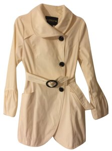 Only Mine Off White Trench Coat