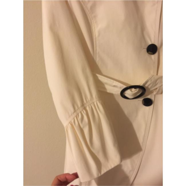 Only Mine Off White Trench Coat Image 1