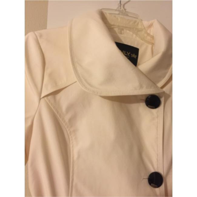 Only Mine Off White Trench Coat Image 2