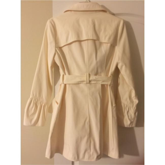 Only Mine Off White Trench Coat Image 3