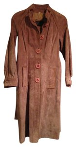Other Vintage - Made in Hong Kong, British Crown Colony Genuine Suede Belted Trench Coat