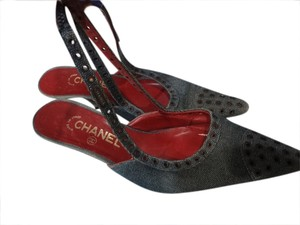 Chanel denim Mules
