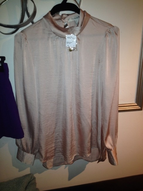 Forever 21 Top Dusty Pink And Purple Image 1