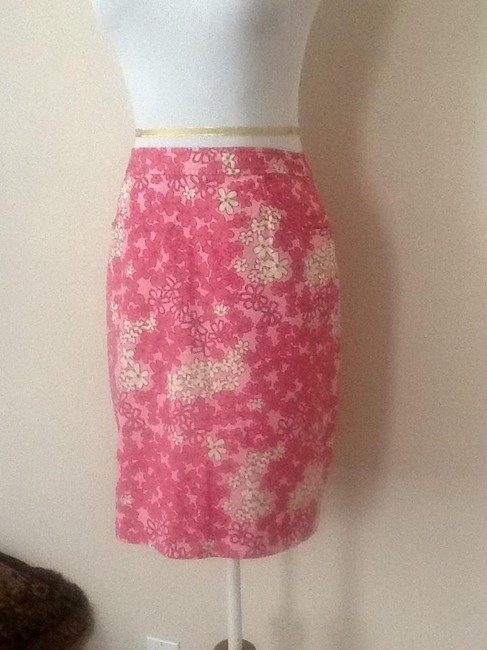 Ann Taylor LOFT Mini Skirt Pink multi