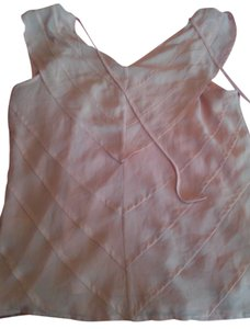 Banana Republic Chic Ruffle Polyester Top peach