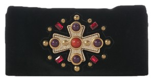 Saint Laurent Jeweled Ys.j0826.12 Ysl Black Clutch