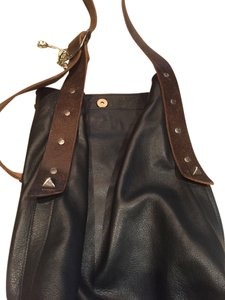 Alison Burns Studded Leather Hobo Bag