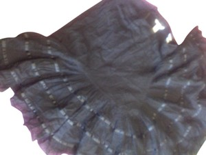 H&M Chic Ruffle Embroidered Lace Skirt black