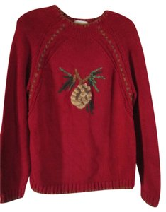 Coldwater Creek Warm Comfy Embroidered Sweater