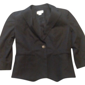 Ann Taylor LOFT Casual Cotton Dryclean Only black Jacket