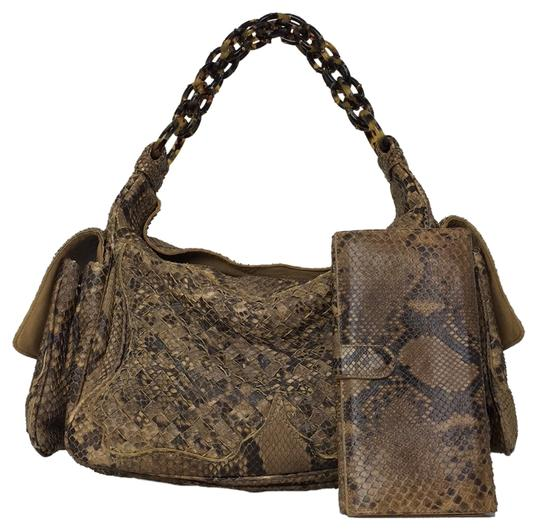 Preload https://img-static.tradesy.com/item/8532721/bottega-veneta-brown-pythontortoise-hobo-bag-0-1-540-540.jpg