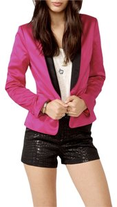 Forever 21 HOT Pink Constrast Collar Blazer small