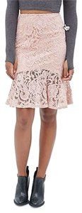 Forever 21 Lace Fluted Powder Skirt pink