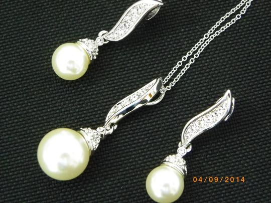 Set Of 6 Necklaces And Earrings White Gold Rhinestone Crystal Bridesmaid Jewelry Bridesmaid Gifts