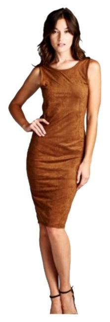 Preload https://img-static.tradesy.com/item/8533201/camel-faux-suede-scoop-back-mid-length-night-out-dress-size-6-s-0-2-650-650.jpg