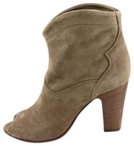 Other Suede Peep Toe Taupe Boots