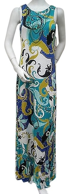 Item - Multi-color And Paisley Multi Sleeveless Beaded Front Long Casual Maxi Dress Size 14-l