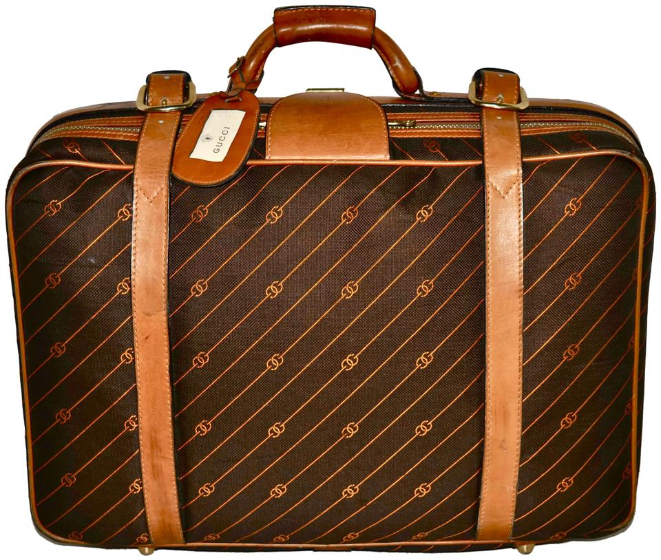 958160edb4ea Gucci Suitcase Carry On Luggage Keepall Duffle Brown Travel Bag Image 0 ...