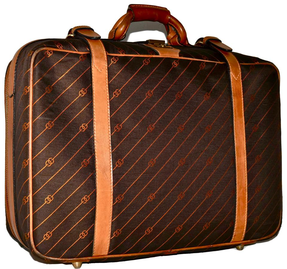 362b92035fb Gucci Suitcase Carry On Luggage Keepall Duffle Brown Travel Bag Image 11.  123456789101112