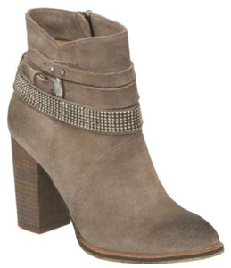 Nine West Mushroom Gray Suede Boots