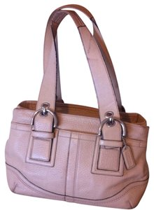 Coach Soho Pebbled L0751-f10911 Leather Satchel in Nude