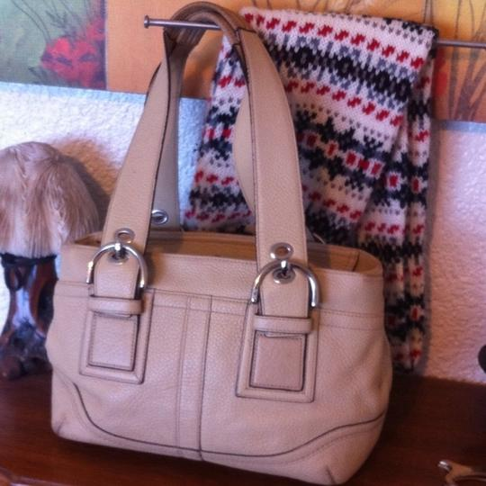 Coach Soho Pebbled L0751-f10911 Leather Satchel in Nude Image 1