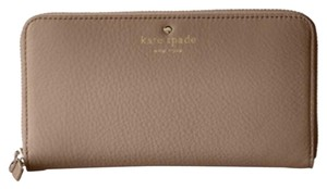 Kate Spade Kate Spade Tan Leather Continental Zip Wallet New With Tags