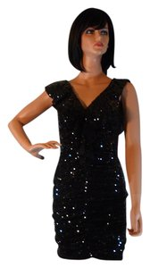 Mark & James by Badgley Mischka Sequin Ruffle Detail Small New Dress
