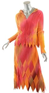 Issey Miyake Fete Ombre Harlequin Dress