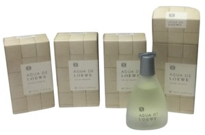 Loewe 4 pcs of AGUA DE LOEWE eau de toilette 10 ml , 0.34 oz MINIS , New in box .