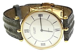 Van Cleef & Arpels Van Cleef & Arpels Vintage 18 Karat Yellow Gold Watch with Leather Strap