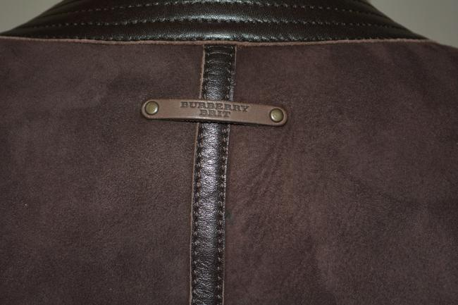 Burberry Lambsking Shearling Oxblood Leather Jacket Image 3