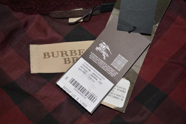 Burberry Lambsking Shearling Oxblood Leather Jacket Image 7