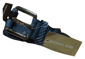 Michael Kors New Michael Kors Genuine Blue Python Belt - Size Large