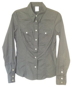 True Religion Poplin Button Down Shirt Black