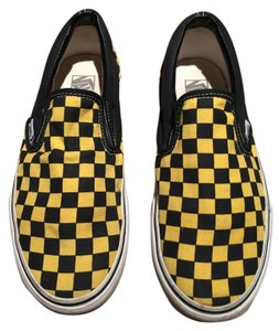 Vans New Black and Yellow Checkered Athletic