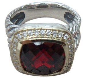 David Yurman David Yurman Albion Ring with Garnet and Diamonds